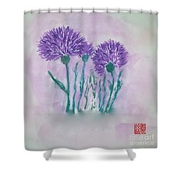 A Study In Purple Shower Curtain