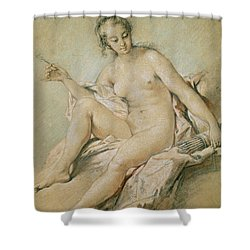A Study Of Venus Shower Curtain by Francois Boucher