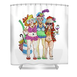 A Study On Gravity Shower Curtain by Rosemary Aubut