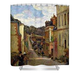 A Suburban Street Shower Curtain by Paul Gauguin