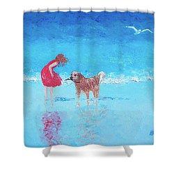 A Summer Breeze Shower Curtain by Jan Matson