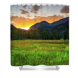 Shower Curtain featuring the photograph A Summer Evening In Colorado by John De Bord