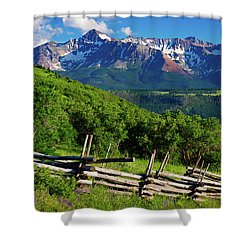 Shower Curtain featuring the photograph A Summer In Telluride by John De Bord