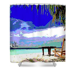 A Sunny Day At The Beach Shower Curtain