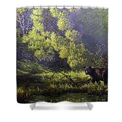A Sunny Meadow Shower Curtain