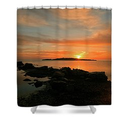 A Sunset In Ibiza Shower Curtain