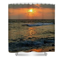 Shower Curtain featuring the photograph A Sunset To Remember by Lori Seaman