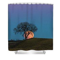 A Super Evening Shower Curtain