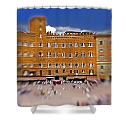 A Surreal Siena Shower Curtain by Marilyn Hunt