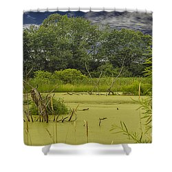 A Swamp Thing Shower Curtain