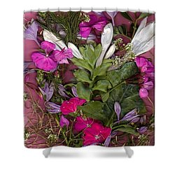 Shower Curtain featuring the digital art A Symphony Of Flowers by Ray Tapajna