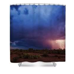 A Tale Of Two Nights Shower Curtain by Rick Furmanek