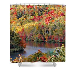 A Tennessee Autumn Shower Curtain