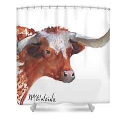 A Texas Longhorn Portrait Shower Curtain