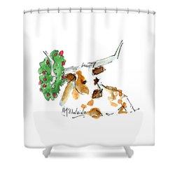 A Texas Welcome Christmas Shower Curtain
