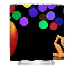 A Thinker In Starry Night Shower Curtain by Paul Ge