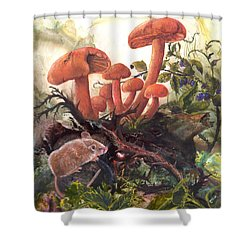 Shower Curtain featuring the painting A Thorny Situation by Sherry Shipley