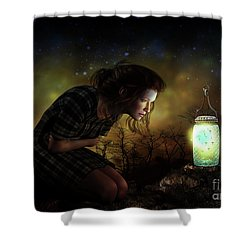 Shower Curtain featuring the digital art A Thousand Hugs by Shanina Conway