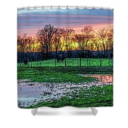 A Time For Reflection Shower Curtain
