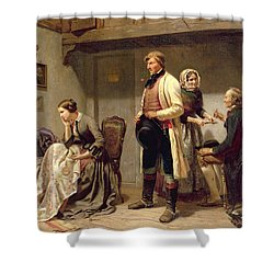 A Toast To The Engaged Couple Shower Curtain by Carl Wilhelm Huebner