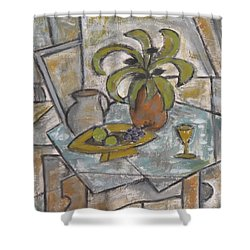 A Toast To Tranquility Shower Curtain by Trish Toro