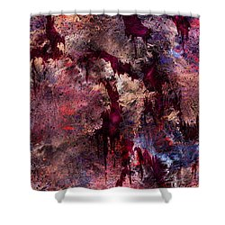 A Tortured Heart Shower Curtain by Rachel Christine Nowicki