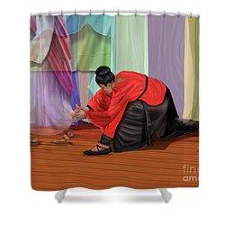 A Touch Of Faith Shower Curtain