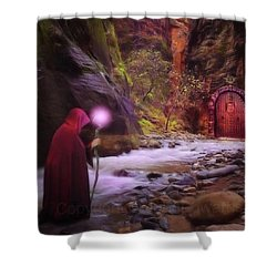 A Touch Of Fantasy - The Road Less Shower Curtain