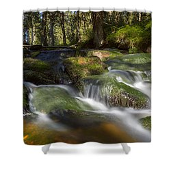 A Touch Of Light Shower Curtain by Andreas Levi