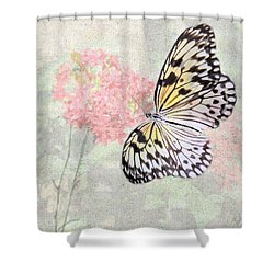 A Touch Of White Shower Curtain