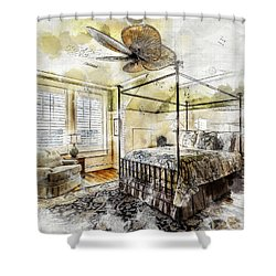 A Traditional Bedroom Shower Curtain