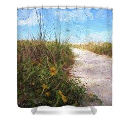 A Trail To The Beach Shower Curtain