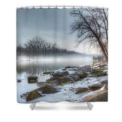 A Tranquil Evening Shower Curtain by Everet Regal
