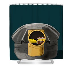 A Treasure Inside The Miners Helmet Shower Curtain