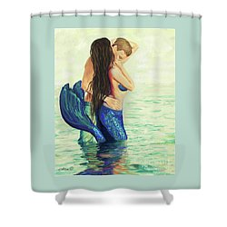 Shower Curtain featuring the painting A Treasured Love by Leslie Allen