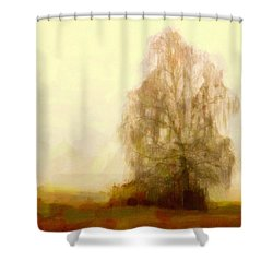 Shower Curtain featuring the painting A Tree by Chris Armytage