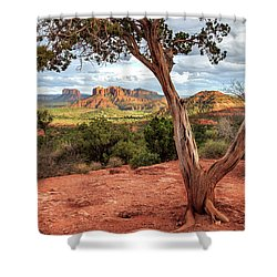 A Tree In Sedona Shower Curtain