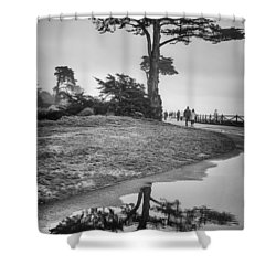 A Tree Stands Tall Shower Curtain