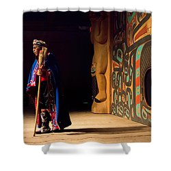 A Tribal Elder Shower Curtain