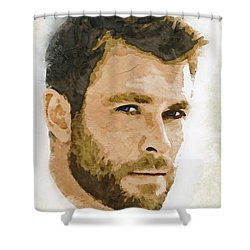 A Tribute To Chris Hemsworth Shower Curtain