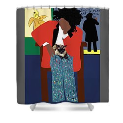 A Tribute To Jean-michel Basquiat Shower Curtain