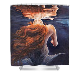 A Trick Of The Light - Love Is Illusion Shower Curtain by Marco Busoni