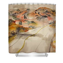 a trip to Lewistown  in Autumn  album Shower Curtain