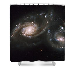 A Triplet Of Galaxies Known As Arp 274 Shower Curtain by Stocktrek Images
