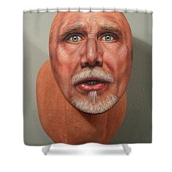 A Trophied Artist Shower Curtain by James W Johnson