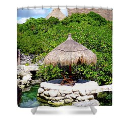 Shower Curtain featuring the photograph A Tropical Place To Relax by Francesca Mackenney