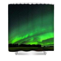 A Tsunami Of Green Shower Curtain