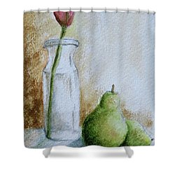 A Tulip And Two Pears Shower Curtain