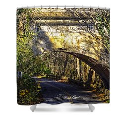 Shower Curtain featuring the photograph A Tunnel By The River by Melissa Messick
