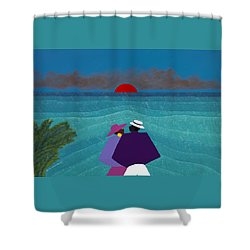 A Turks And Caicos Sunset Shower Curtain